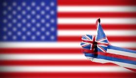 Positive attitude of Hawaii. For USA Stock Photography
