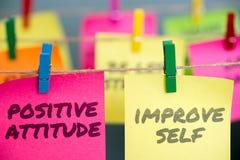Positive Attitude And Improve Self stock photo
