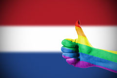 Positive attitude of LGBT community for Netherlands. Concept photo - Positive attitude of LGBT community for Netherlands Royalty Free Stock Image
