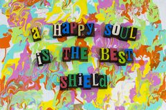 Happy soul best shield royalty free stock photography