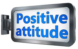 Positive attitude on billboard stock illustration