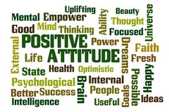 Positive Attitude Word Cloud royalty free stock images
