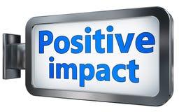 Positive Auswirkung auf Anschlagtafel stock abbildung