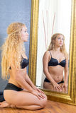 Positive Body Image Of Thick Female Royalty Free Stock Images