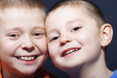 Positive brothers Royalty Free Stock Photos