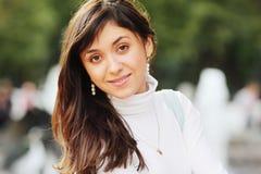 Positive brunette Stock Photo
