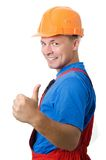 Positive builder worker Stock Photos