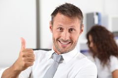 Positive business Stock Image
