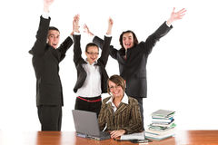 Positive business stock photography