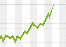 Positive business chart Stock Images