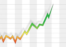 Positive business chart Royalty Free Stock Image