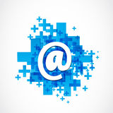 Positive Business Email royalty free illustration
