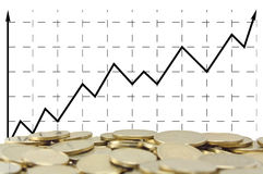 Positive business graph stock photo