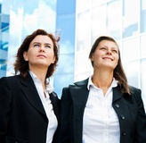positive business group looking up with dreaming expressio Stock Photo