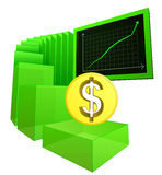 Positive business results of Dollar currency vector. Illustration Stock Image