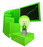 Positive business results of renewable energy vector. Illustration Stock Photo