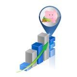 Positive business savings graph Stock Photo