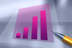Positive business trend chart Royalty Free Stock Photos