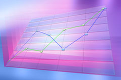 Positive business trend chart Stock Photos