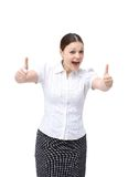 Positive business woman Royalty Free Stock Photos