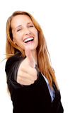 Positive business woman Stock Photo
