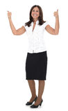 Positive business woman. After signing an agreement Royalty Free Stock Images