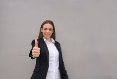 Positive business woman Royalty Free Stock Photo