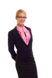 Positive business woman smiling Royalty Free Stock Photos