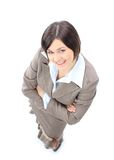 Positive business woman smiling Stock Image