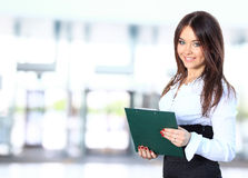 Positive business woman smiling Stock Photos