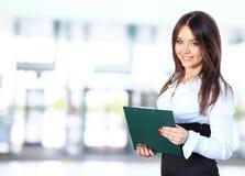 Positive business woman smiling Stock Photos
