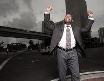 Positive businessman Stock Images