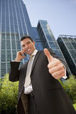 Positive Businessman Royalty Free Stock Image