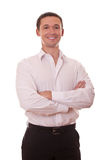 Positive businessman arms folded Stock Images