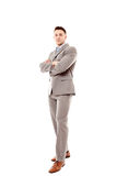 Positive businessman with arms folded Royalty Free Stock Photos