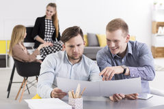 Positive businesspeople working together Royalty Free Stock Photo