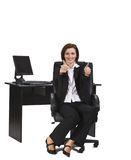 Positive businesswoman Royalty Free Stock Photography