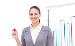 Positive businesswoman doing a presentation Stock Photos