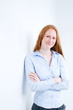 Positive Businesswoman Smiling at the Camera Royalty Free Stock Photography