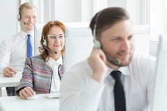 Positive call centre Stock Images