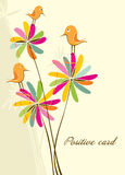 Positive card. Royalty Free Stock Photo