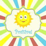 Positive card with sun Royalty Free Stock Photos