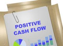 Positive Cash Flow concept. 3D illustration of POSITIVE CASH FLOW title on business document Stock Photos