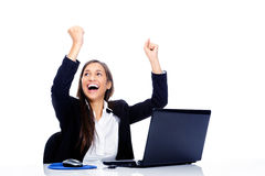 Positive celebration at work Royalty Free Stock Photo
