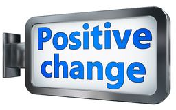 Positive change on billboard vector illustration