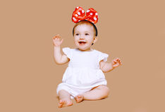 Positive charming little child Royalty Free Stock Images