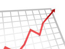 Positive chart. Positive red chart showing success business Stock Image