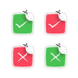 positive checkmark stickers Stock Photo