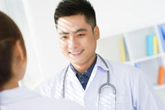 Positive clinician Stock Photography