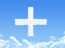 Positive clouds symbol Royalty Free Stock Images